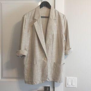 Vintage oversized Linen Jacket